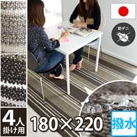 汚れに強い撥水ラグ 安心の日本製