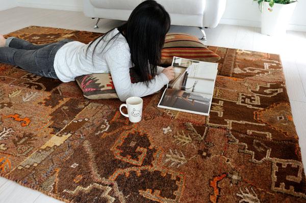 オールド絨毯パッチワークトルコ製